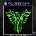 Tribal Eagle Decal Sticker D4 Lime Green Vinyl 120x120