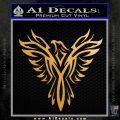 Tribal Eagle Decal Sticker D4 Metallic Gold Vinyl 120x120