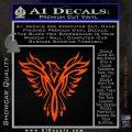 Tribal Eagle Decal Sticker D4 Orange Vinyl Emblem 120x120