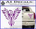 Tribal Eagle Decal Sticker D4 Purple Vinyl 120x97