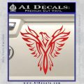 Tribal Eagle Decal Sticker D4 Red Vinyl 120x120