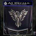 Tribal Eagle Decal Sticker D4 Silver Vinyl 120x120
