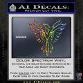 Tribal Eagle Decal Sticker D4 Sparkle Glitter Vinyl 120x120