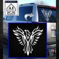 Tribal Eagle Decal Sticker D4 White Emblem 120x120