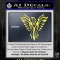Tribal Eagle Decal Sticker D4 Yelllow Vinyl 120x120
