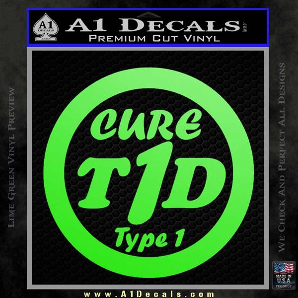 type 1 diabetes support decal sticker ribbon 187 a1 decals