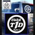 Type 1 Diabetes Support Decal Sticker Ribbon White Emblem 120x120