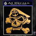 US Navy Master Chief N3 Decal Sticker Metallic Gold Vinyl 120x120