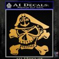 US Navy Senior Chief N2 Decal Sticker Metallic Gold Vinyl 120x120