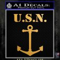 United States US Navy Anchor U.S.N. Decal Sticker Metallic Gold Vinyl 120x120
