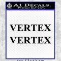 Vertex Pistons Logo Decal Sticker 2pk Black Logo Emblem 120x120