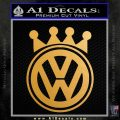 Volkswagen King Crown Decal Sticker Metallic Gold Vinyl 120x120