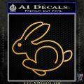 Volkswagen Rabbit VFA Decal Sticker Metallic Gold Vinyl 120x120