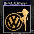 Vw Girl Decal Sticker Metallic Gold Vinyl 120x120