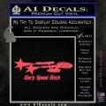 Warp Speed Bitch Decal Sticker Enterprise Trek Pink Vinyl Emblem 120x120