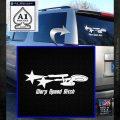 Warp Speed Bitch Decal Sticker Enterprise Trek White Emblem 120x120