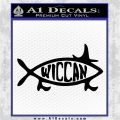 Wicca Decal Sticker Jesus Fish Black Logo Emblem 120x120