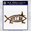 Wicca Decal Sticker Jesus Fish Brown Vinyl 120x120
