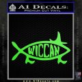 Wicca Decal Sticker Jesus Fish Lime Green Vinyl 120x120