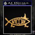 Wicca Decal Sticker Jesus Fish Metallic Gold Vinyl 120x120