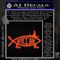 Wicca Decal Sticker Jesus Fish Orange Vinyl Emblem 120x120