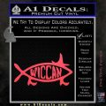 Wicca Decal Sticker Jesus Fish Pink Vinyl Emblem 120x120