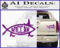 Wicca Decal Sticker Jesus Fish Purple Vinyl 120x97