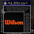 Wilson Sports Decal Sticker Orange Vinyl Emblem 120x120