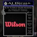 Wilson Sports Decal Sticker Pink Vinyl Emblem 120x120