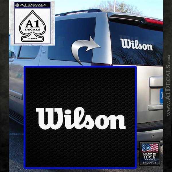 Wilson Sports Decal Sticker White Emblem
