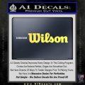 Wilson Sports Decal Sticker Yelllow Vinyl 120x120