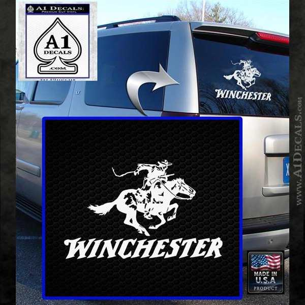 Winchester Firearms Stacked Decal Sticker 187 A1 Decals