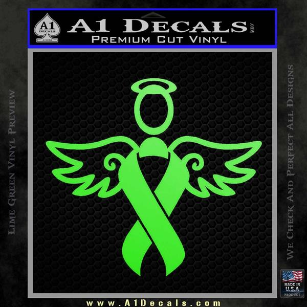 Winged Cancer Ribbon Decal Sticker A1 Decals