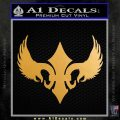 Winged Fluer de Lis Decal Sticker Metallic Gold Vinyl 120x120