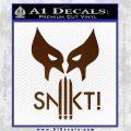 Wolfman Snikt D3 Decal Sticker Brown Vinyl 120x120