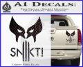 Wolfman Snikt D3 Decal Sticker Carbon Fiber Black 120x97