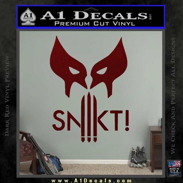 Wolfman snikt d3 decal sticker dark red vinyl 120x120