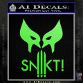 Wolfman Snikt D3 Decal Sticker Lime Green Vinyl 120x120