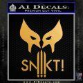 Wolfman Snikt D3 Decal Sticker Metallic Gold Vinyl 120x120