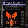 Wolfman Snikt D3 Decal Sticker Orange Vinyl Emblem 120x120