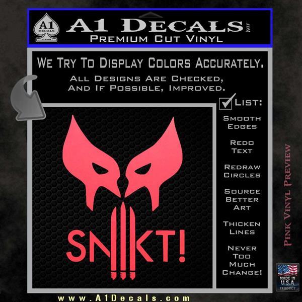 Wolfman snikt d3 decal sticker pink vinyl emblem 120x120