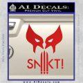 Wolfman Snikt D3 Decal Sticker Red Vinyl 120x120