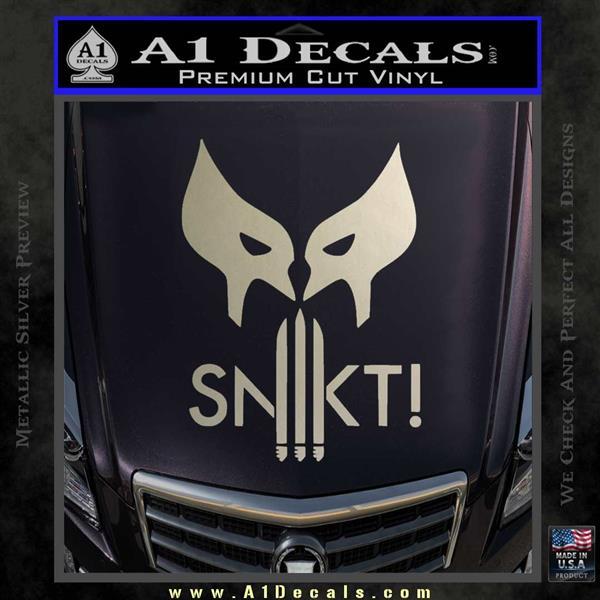 Wolfman snikt d3 decal sticker silver vinyl 120x120