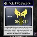 Wolfman Snikt D3 Decal Sticker Yelllow Vinyl 120x120