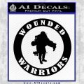 Wounded Warriors Decal Sticker CR Black Logo Emblem 120x120
