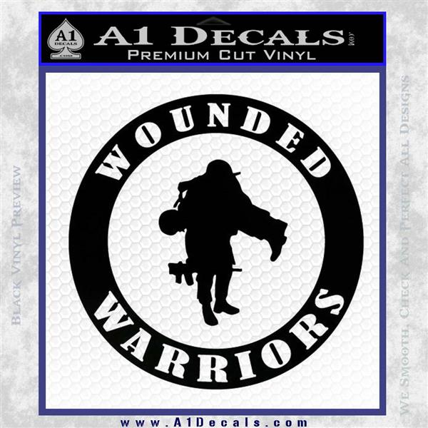 Wounded Warriors Decal Sticker Cr 187 A1 Decals