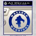 Wounded Warriors Decal Sticker CR Blue Vinyl 120x120