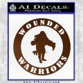 Wounded Warriors Decal Sticker CR Brown Vinyl 120x120
