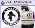 Wounded Warriors Decal Sticker CR Carbon Fiber Black 120x97