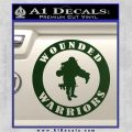 Wounded Warriors Decal Sticker CR Dark Green Vinyl 120x120